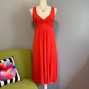 J Crew Blood Orange Midi Dress C6
